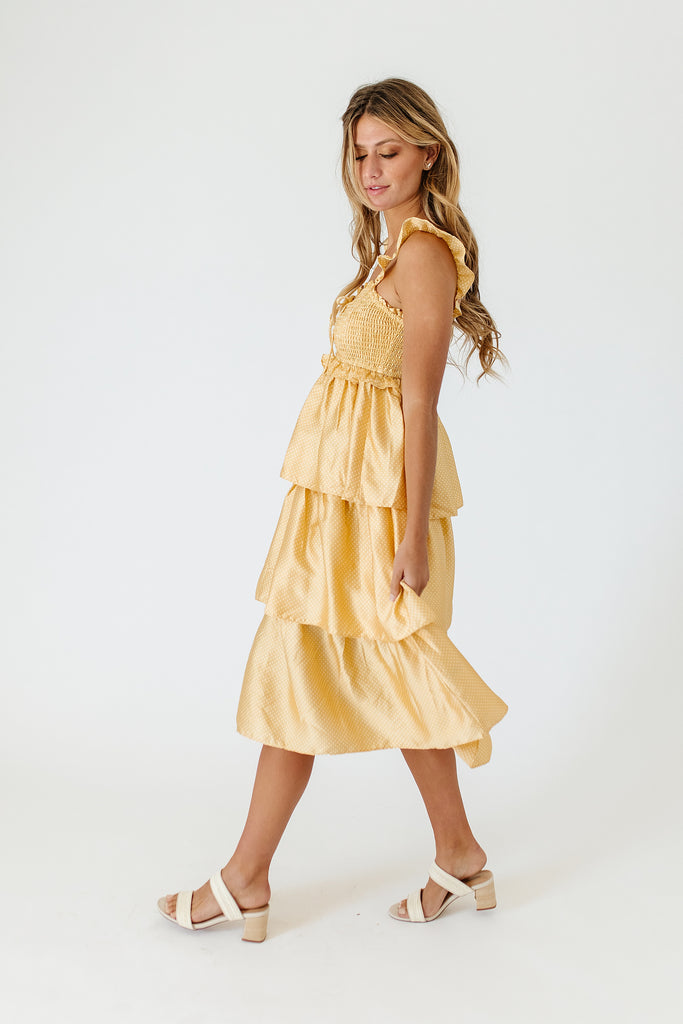 buttercup polka dot dress