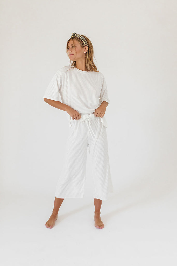 kit ribbed set // white *restocked*