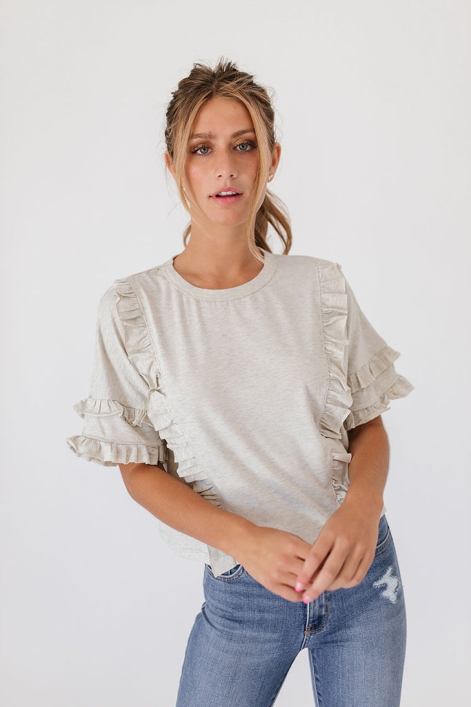 jetson ruffle top *restocked*