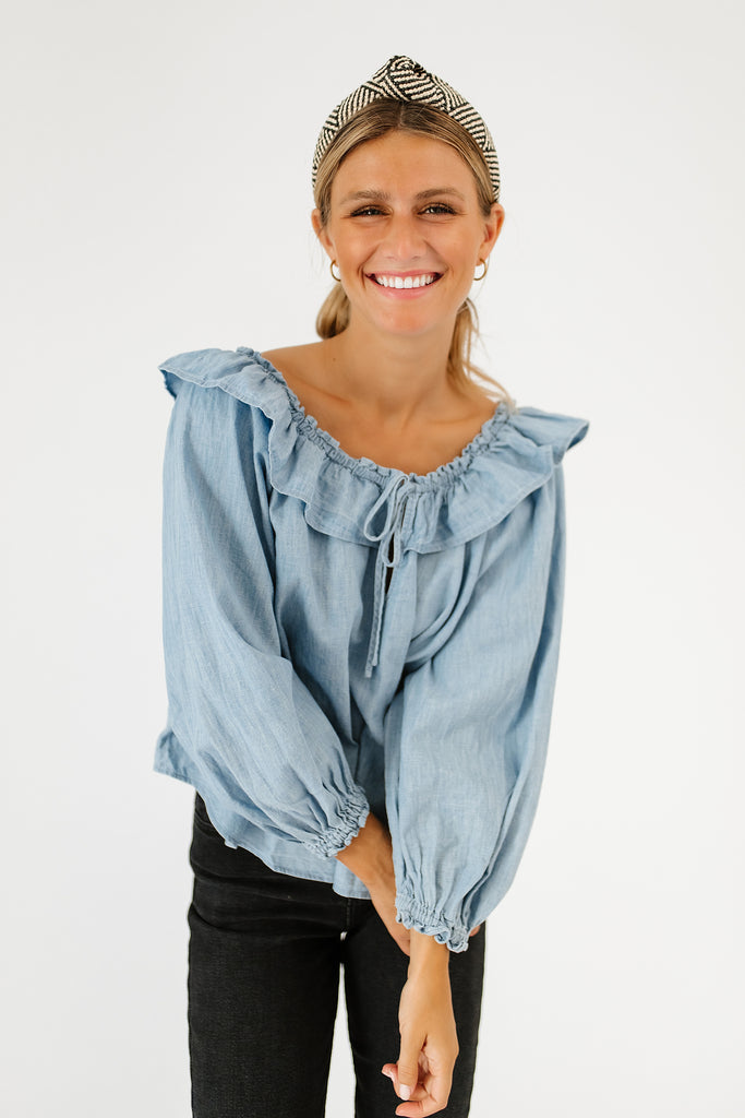 lily of the valley chambray top // free people