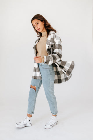 kimmie plaid shirt jacket