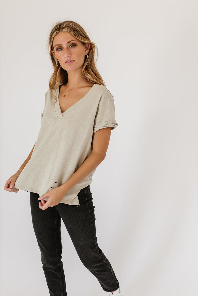 jessie distressed tee