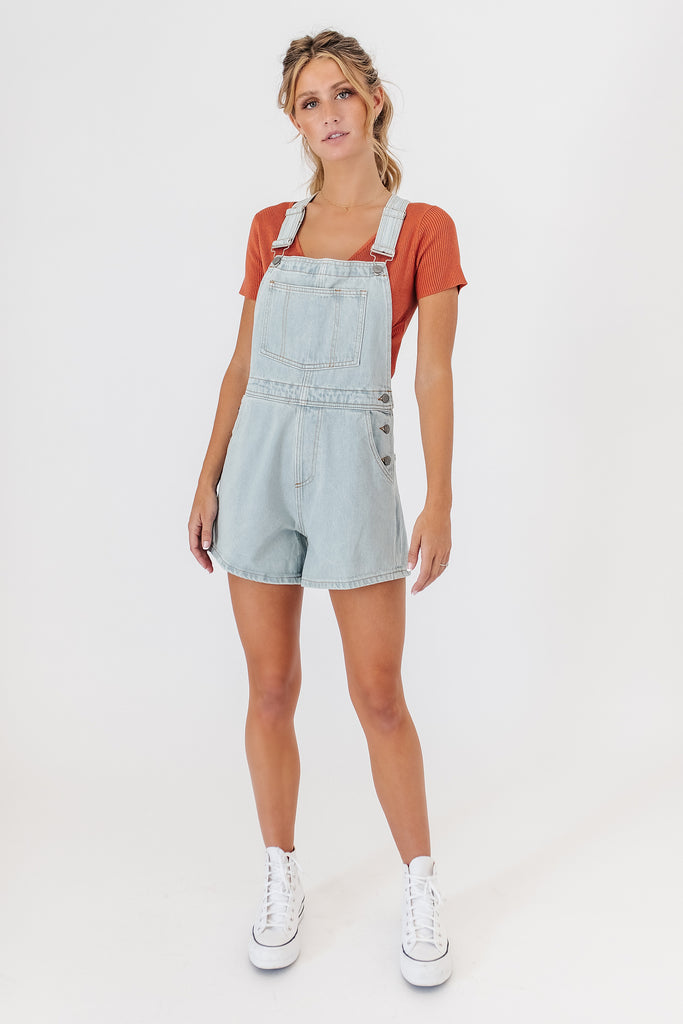 cleo denim shortalls