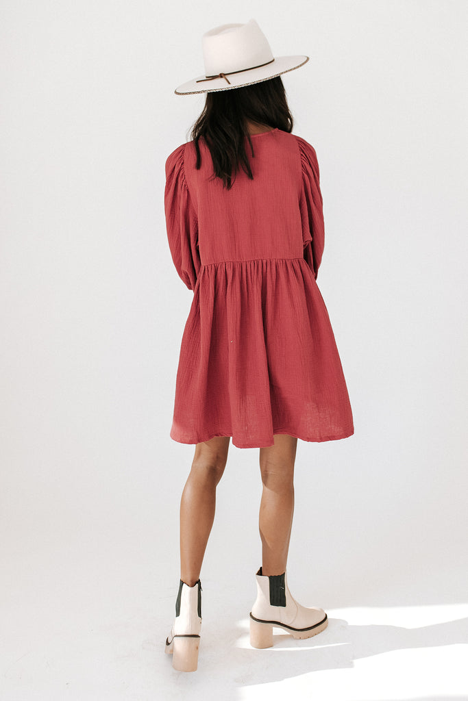 just my type dress // red