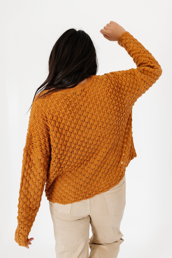 energy button sweater
