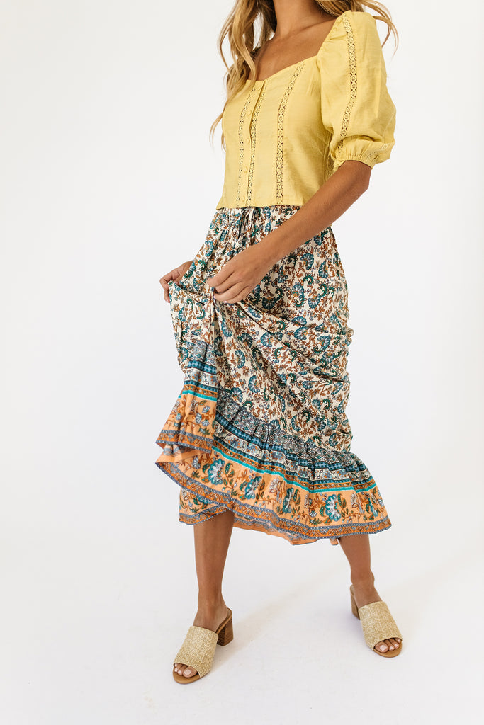 nat patterned skirt