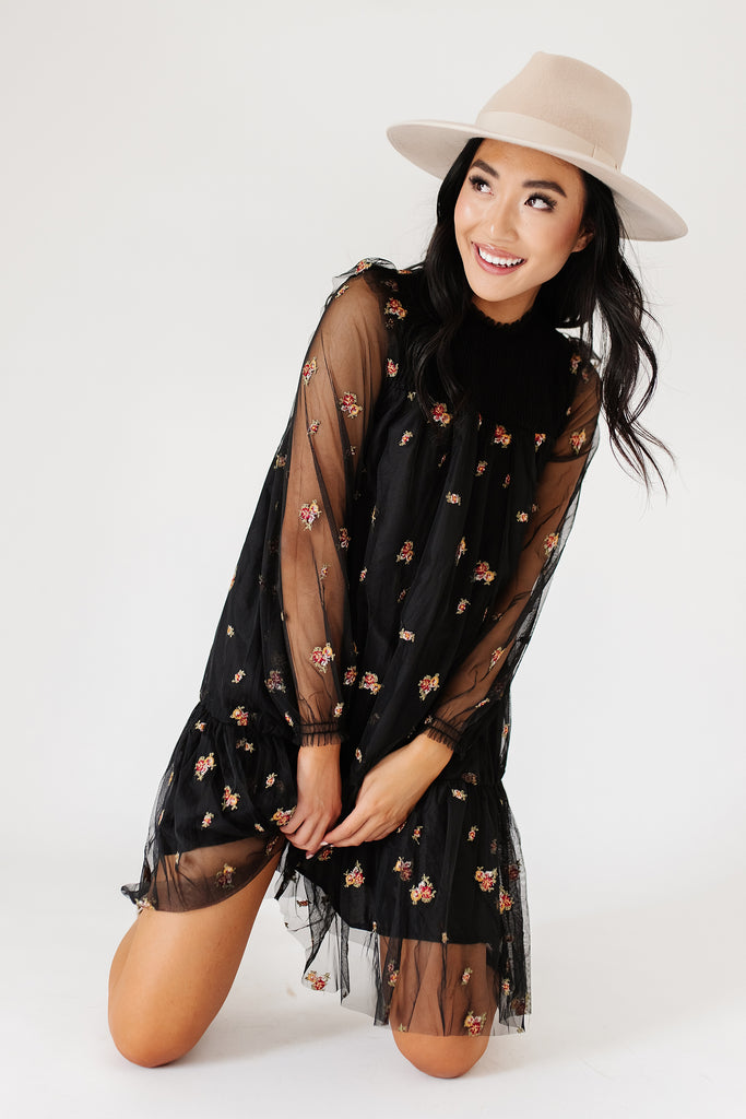 sawyer embroidered dress