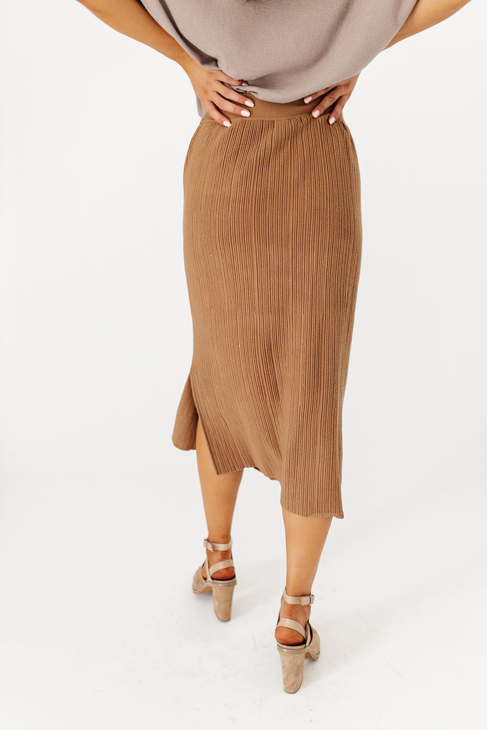 up in the air skirt // brown