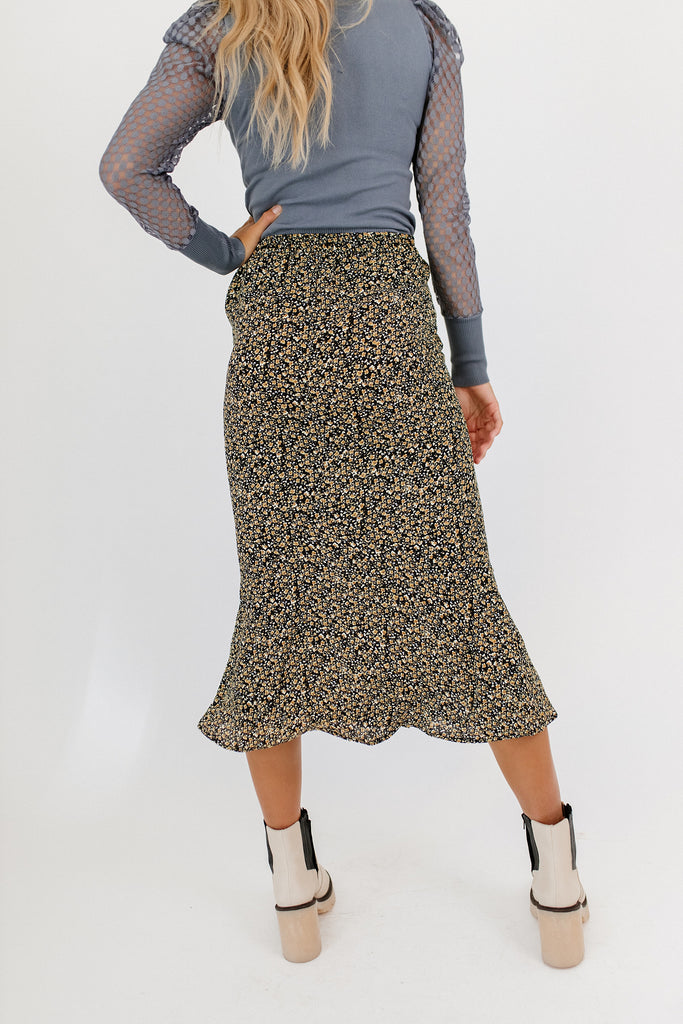 gentry floral skirt