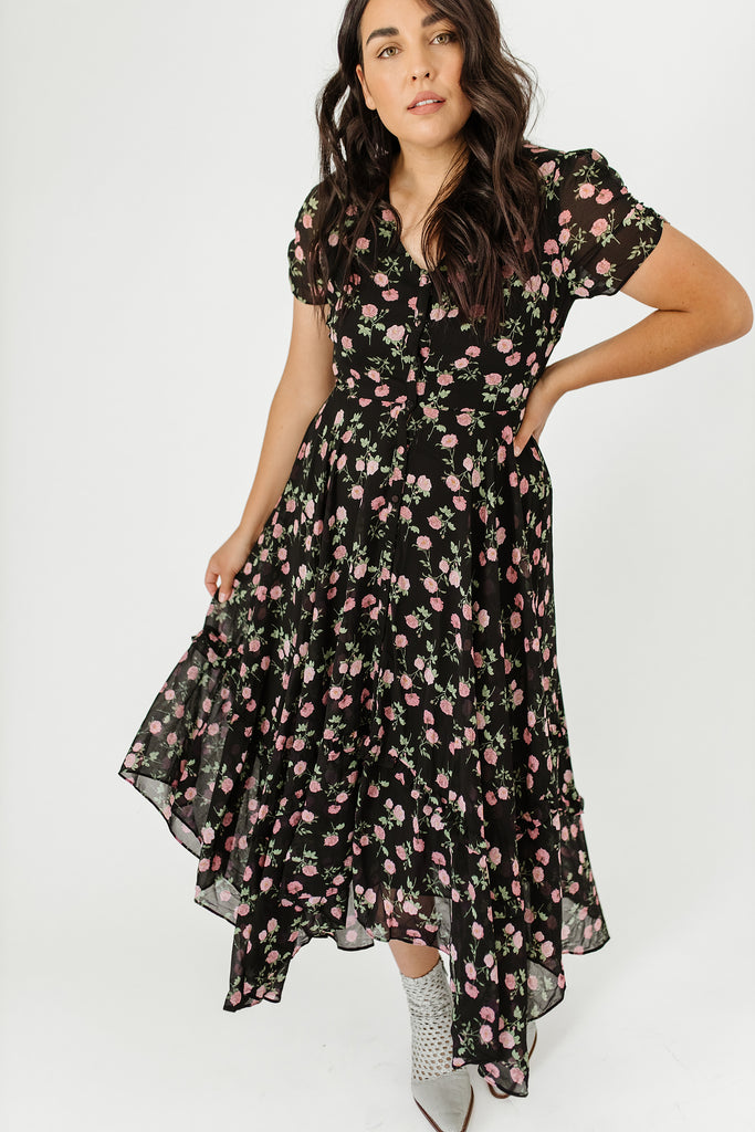 addison floral print dress