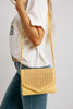 street level woven bag // yellow