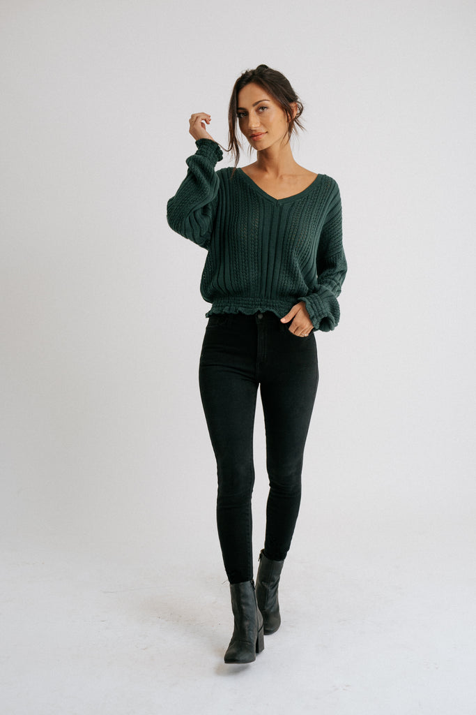 luca sweater // forest green *restocked*