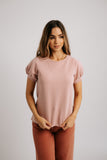 piper top in dusty pink