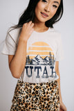 utah mountains tee in sand