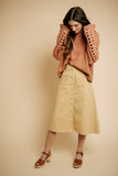 gilbert button skirt