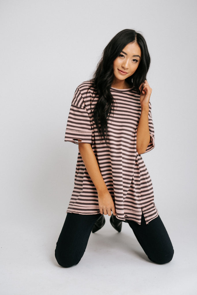 zella striped tee *restocked*