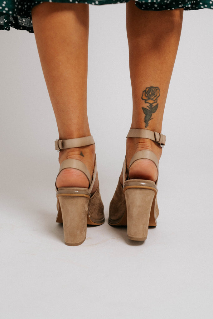 see ya there heel in taupe // free people