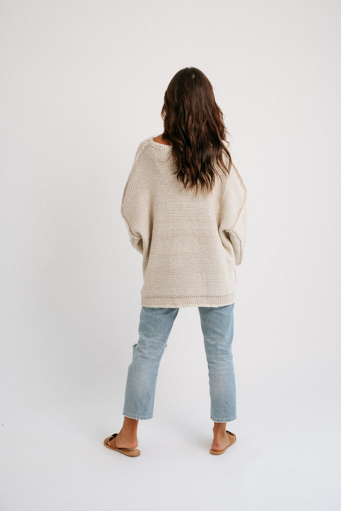 charles knit sweater // oatmeal *restocked*