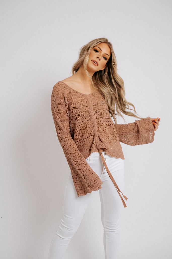 crochet for days sweater // clay