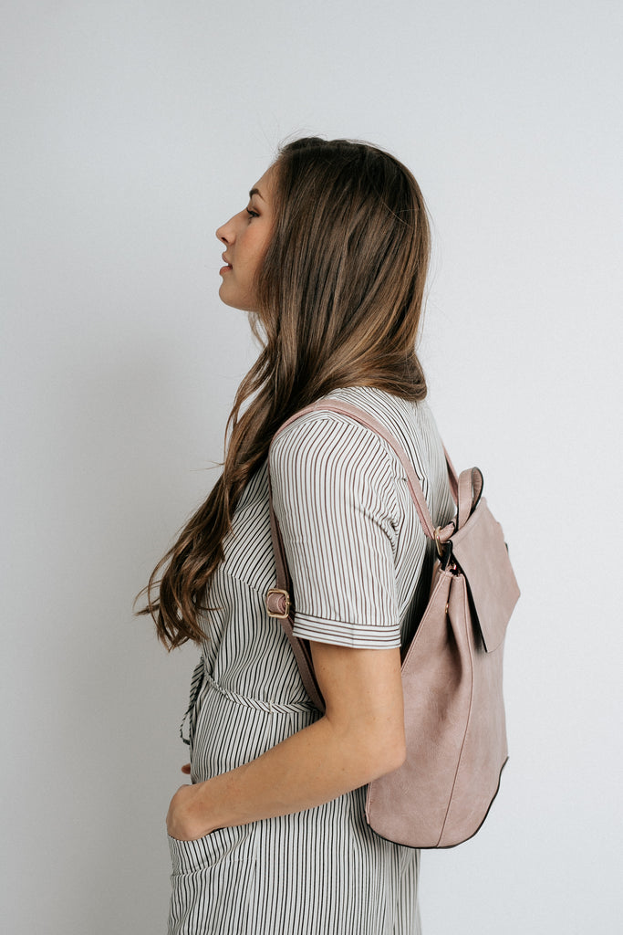 kendall backpack in mauve *restocked*