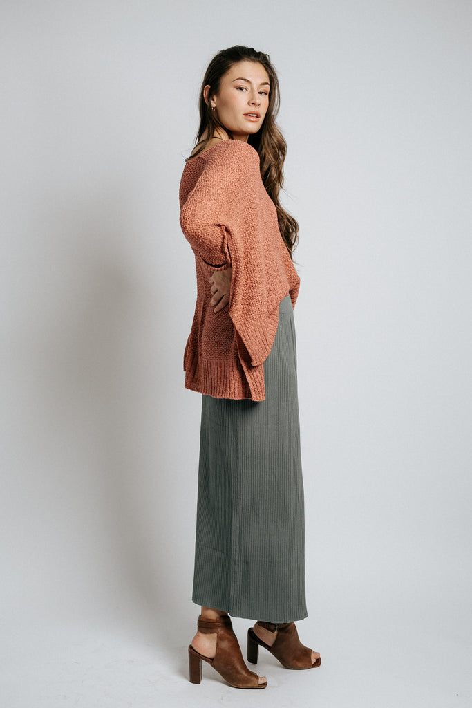 kennedy ribbed skirt in sage