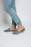 willa woven mule in blue
