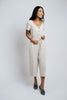 coco linen jumpsuit // natural