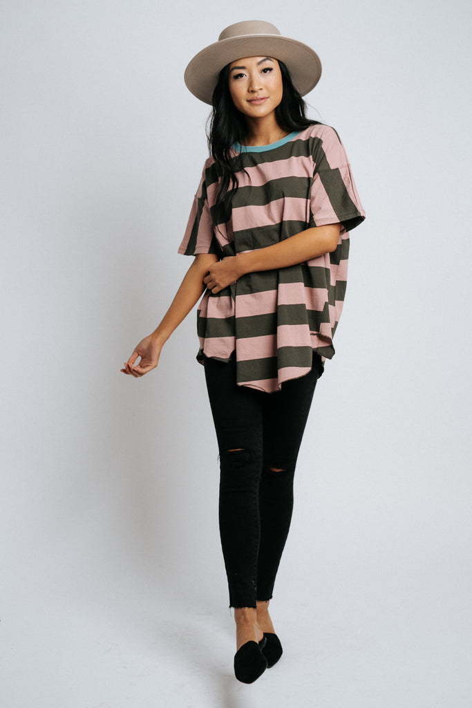 cleo striped top