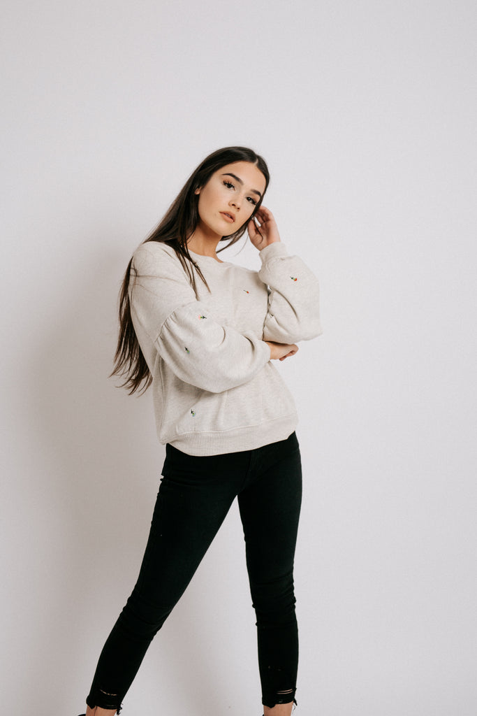 emme embroidered sweatshirt