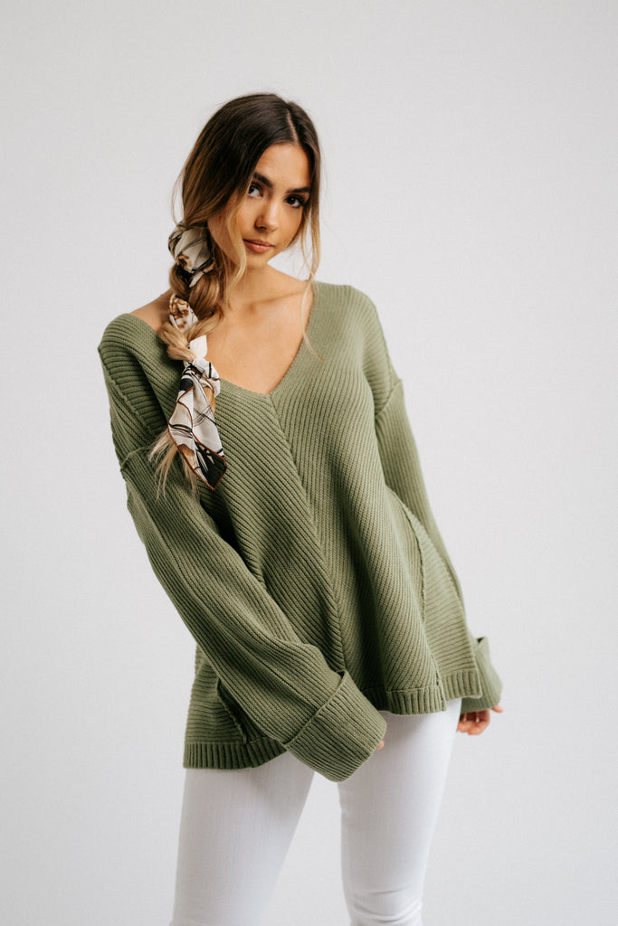 tom sweater // sage