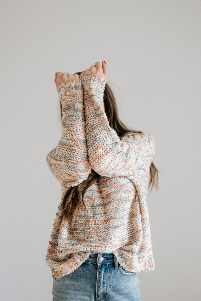 raina knit sweater in pastel