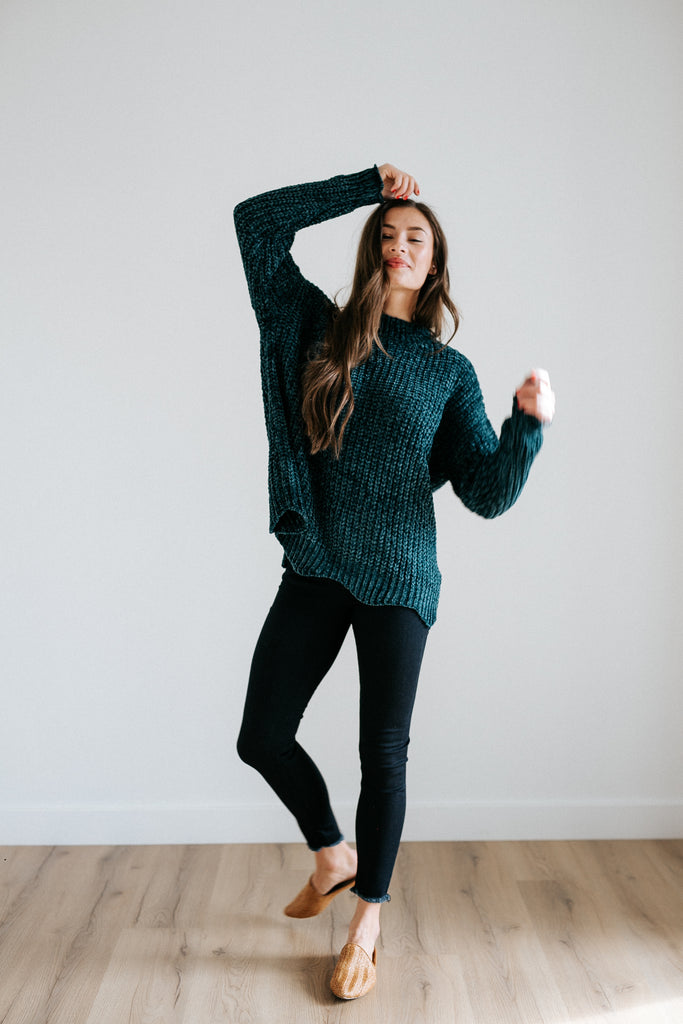 amy chenille sweater