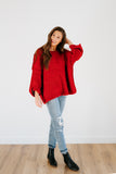 charles knit sweater in ruby
