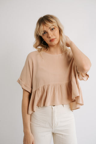 poppy babydoll top in ginger *restocked*