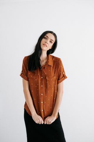 denise eyelet sleeve top