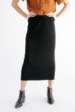 kennedy ribbed skirt in black