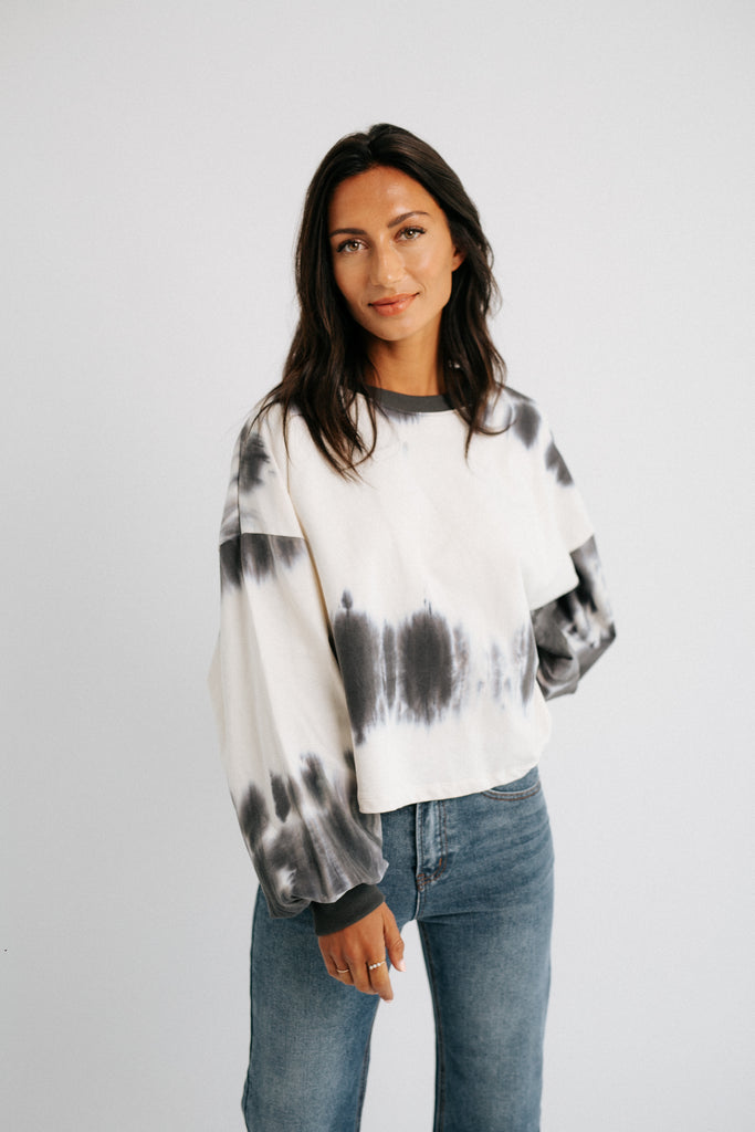 tie dye over this pullover // charcoal *restocked*