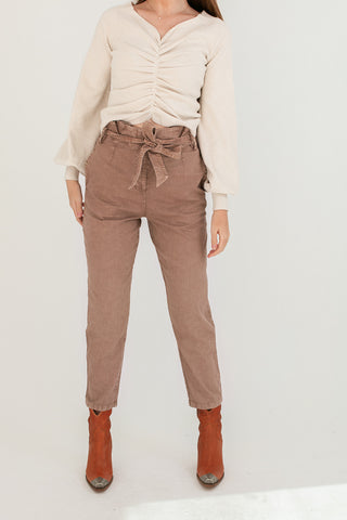 venice wide leg pant // walnut