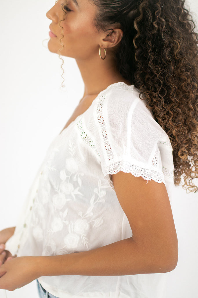 solstice top // white