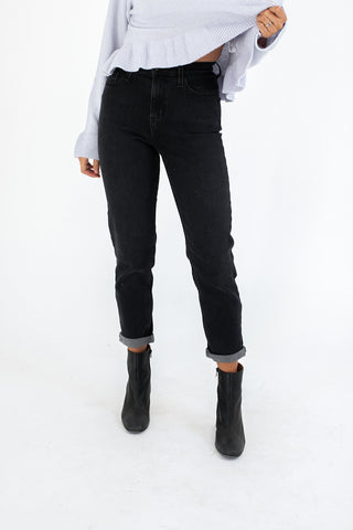 high kick frayed denim // black *restocked*