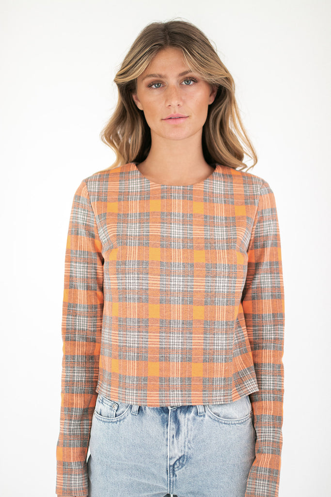 she's a gem plaid top