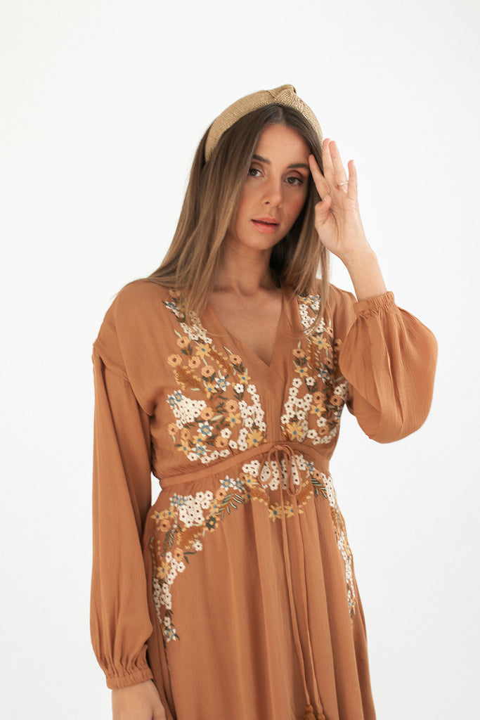 lola embroidered dress