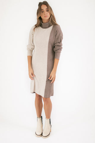 poppy mini dress // taupe