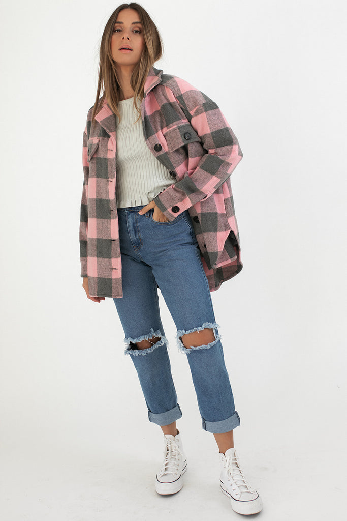 cora plaid jacket *restocked*