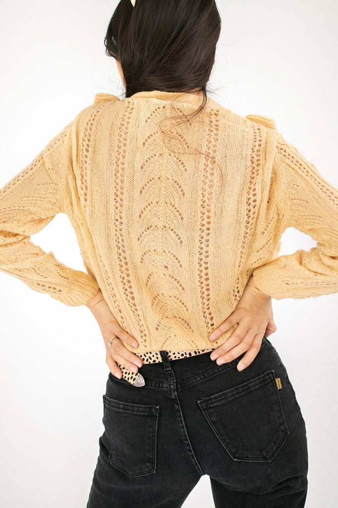 hilly button sweater