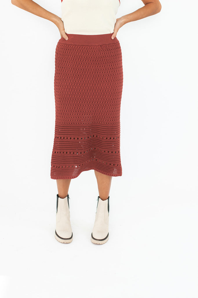 scout crochet skirt // berry