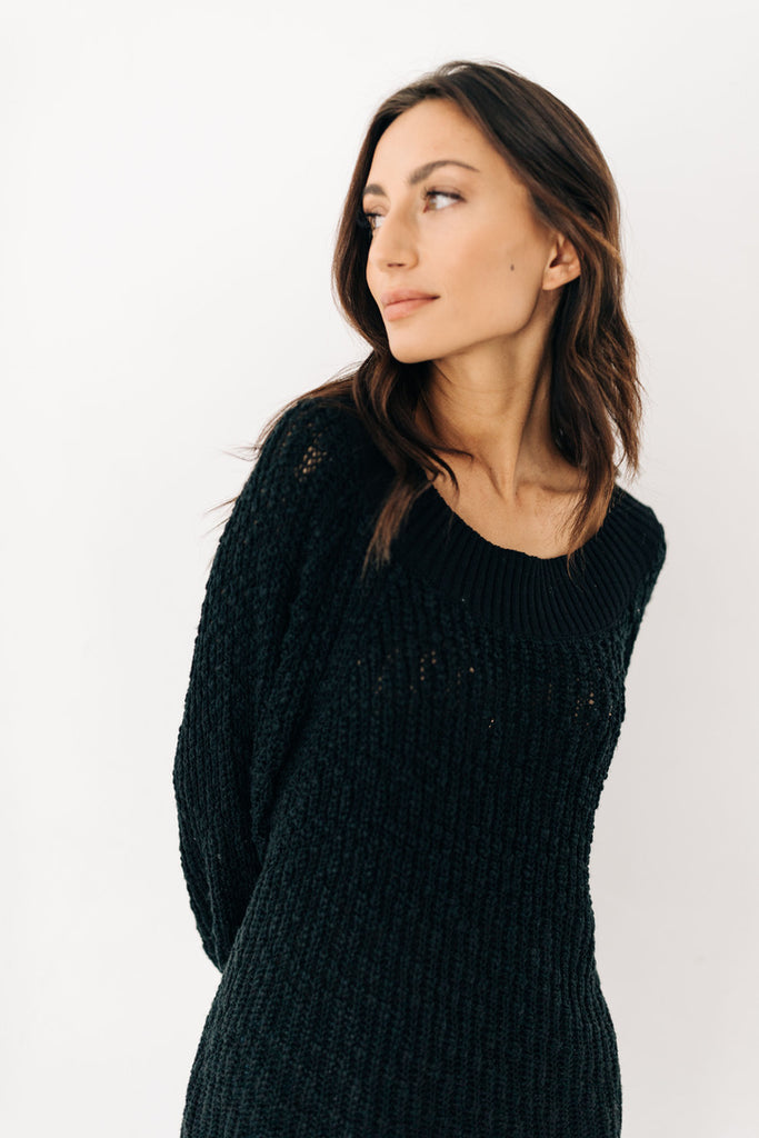 hershel knit sweater // black