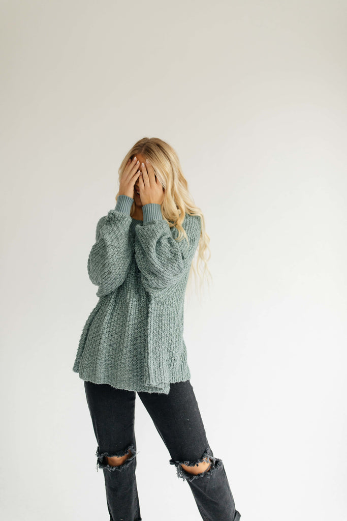 hershel knit sweater // teal