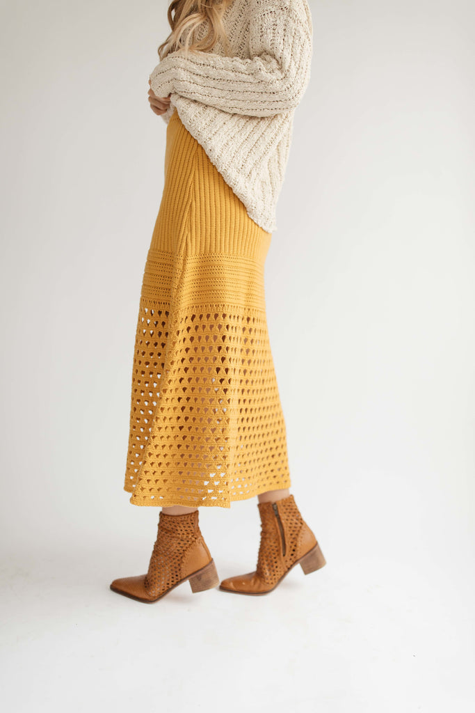 liz knit skirt // marigold