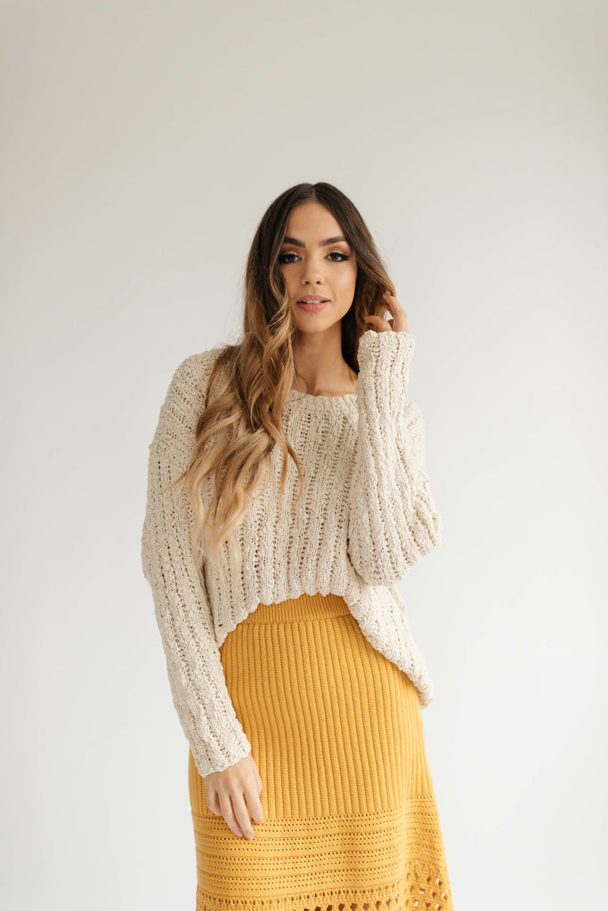 vista sweater // cream